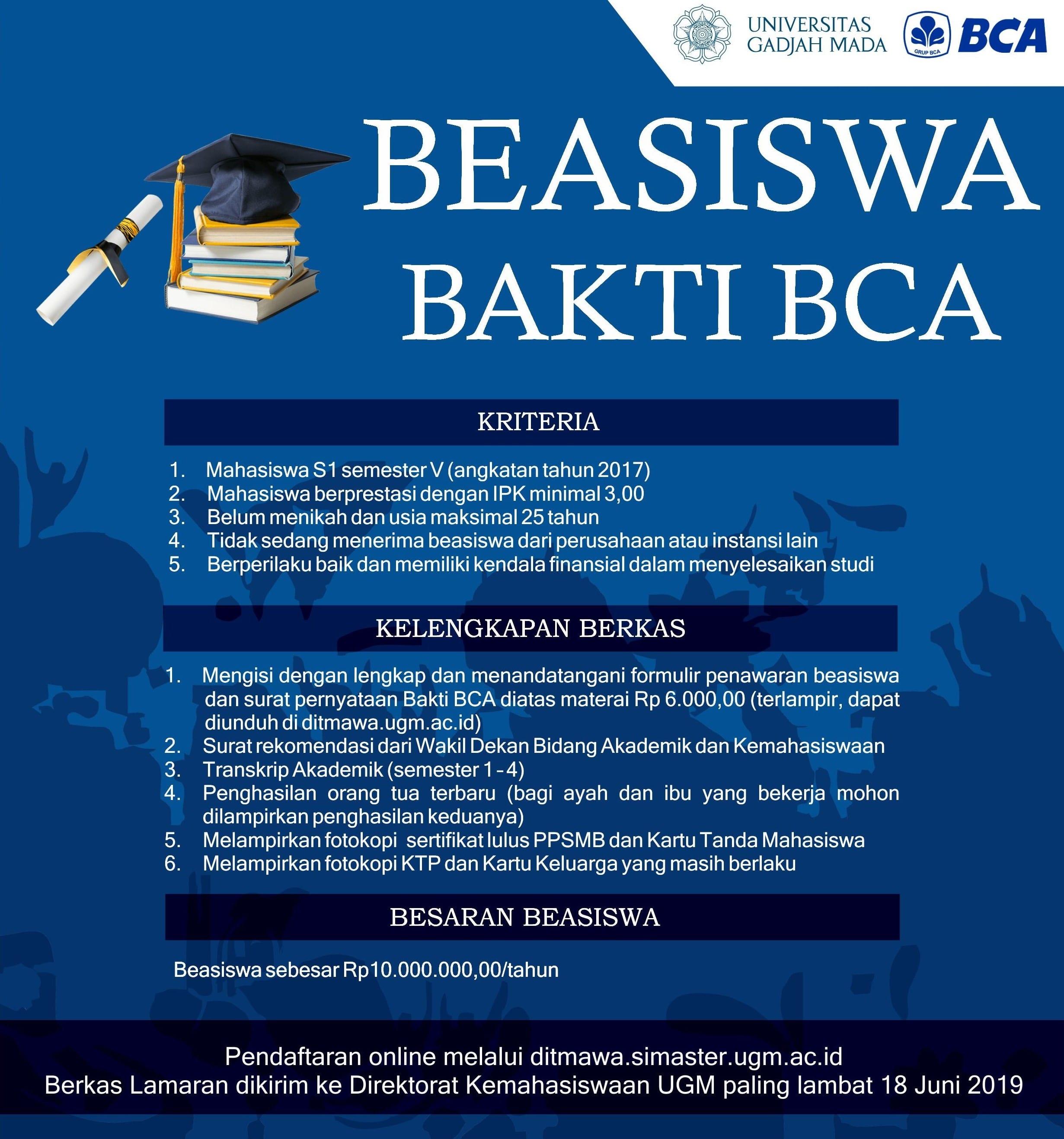 Beasiswa Bakti BCA 2